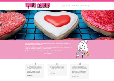 Ine's Cakes website by MK Web Development